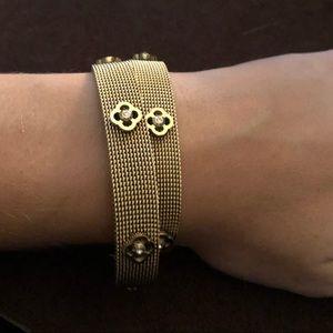 Henri Bendel double wrap gold bracelet